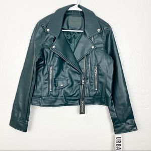 Blank NYC   Green Faux Leather Moto Jacket
